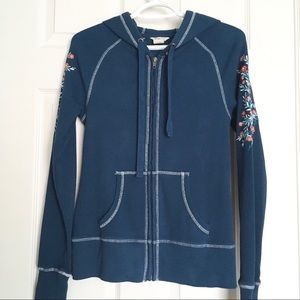ARIAT Thermal Zip Hoodie Embroidered sleeves